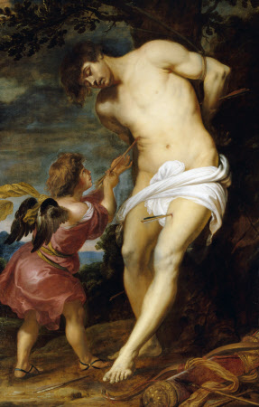 1.Gerard Seghers (1591-1651) San Sebastián confortado por el ángel c. 1630 Óleo sobre lienzo  National Trust, Petworth House and Park, West Sussex