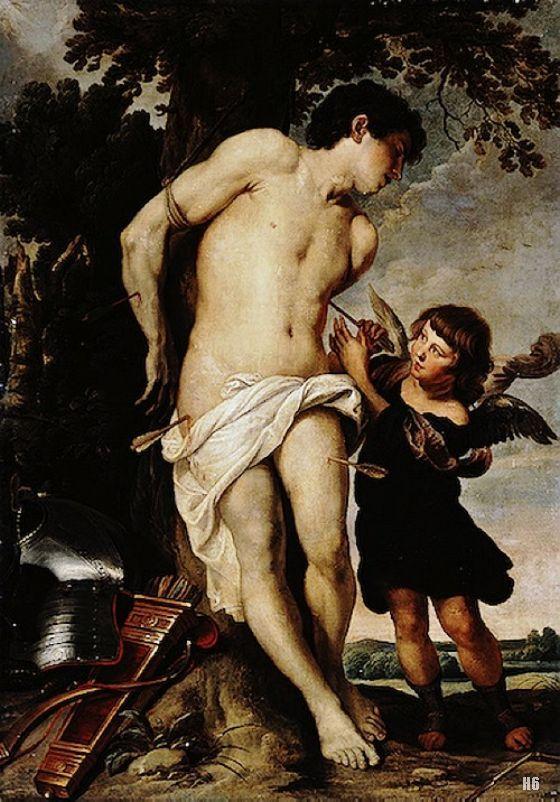 2.Gerard Seghers (1591-1651) San Sebastián y el ángel c. 1640-50  Óleo sobre lienzo