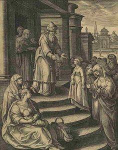 7. Adriaen Collaert. Presentación de la Virgen, 1589. Grabado