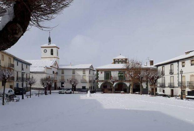 Plaza de Gor nevada
