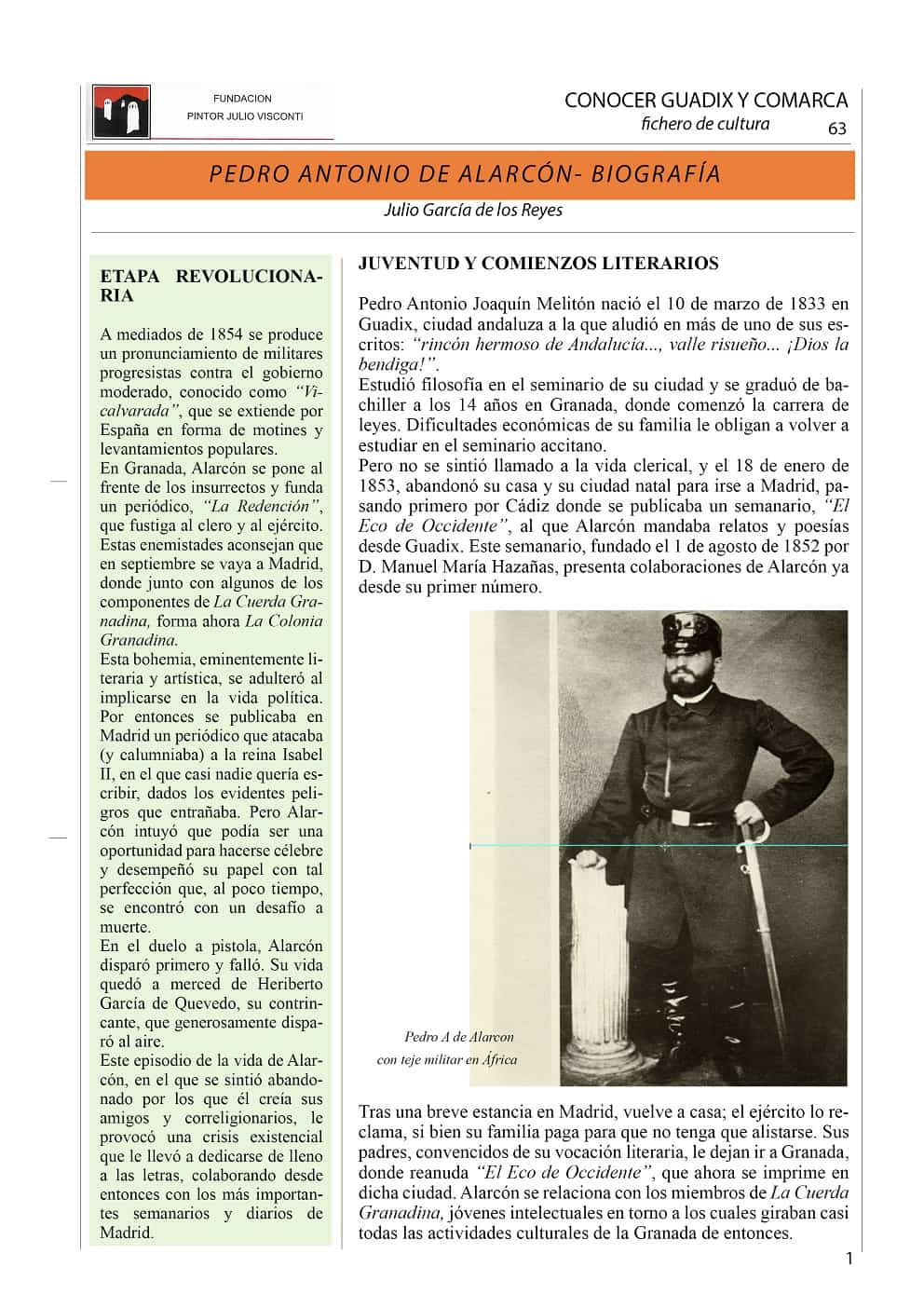 Pedro A de Alarcón, biografía 1-min